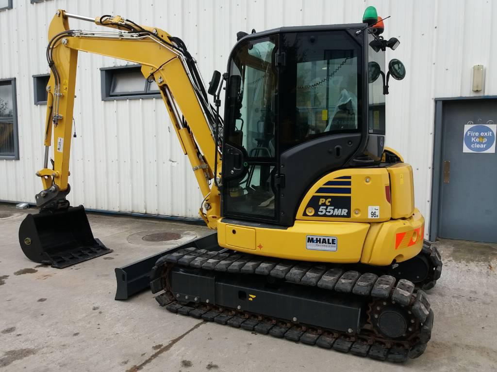 Komatsu PC55MR-5, Mini excavators, Construction Equipment
