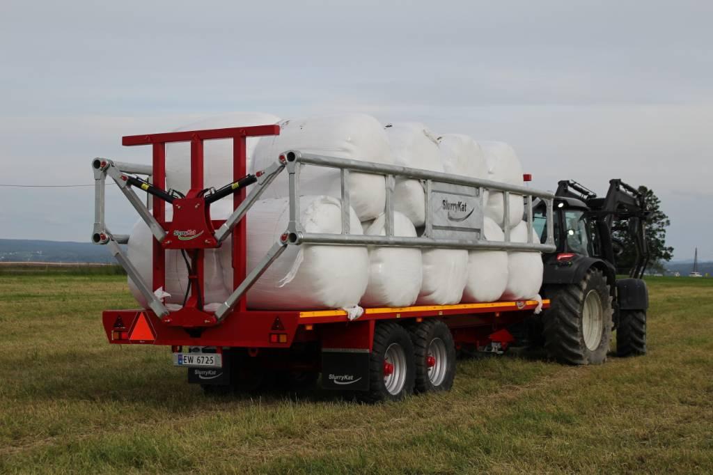 SlurryKat Rundballehenger klare for levering, Rundballehengere, Landbruk