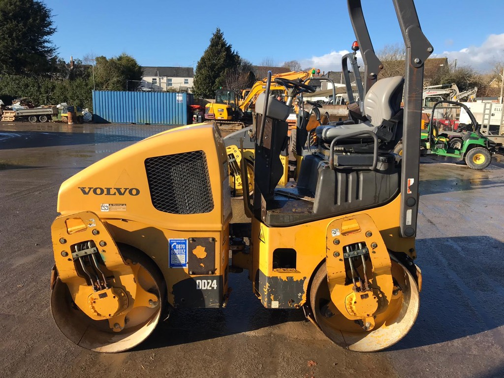 Volvo DD 24, Twin drum rollers, Construction