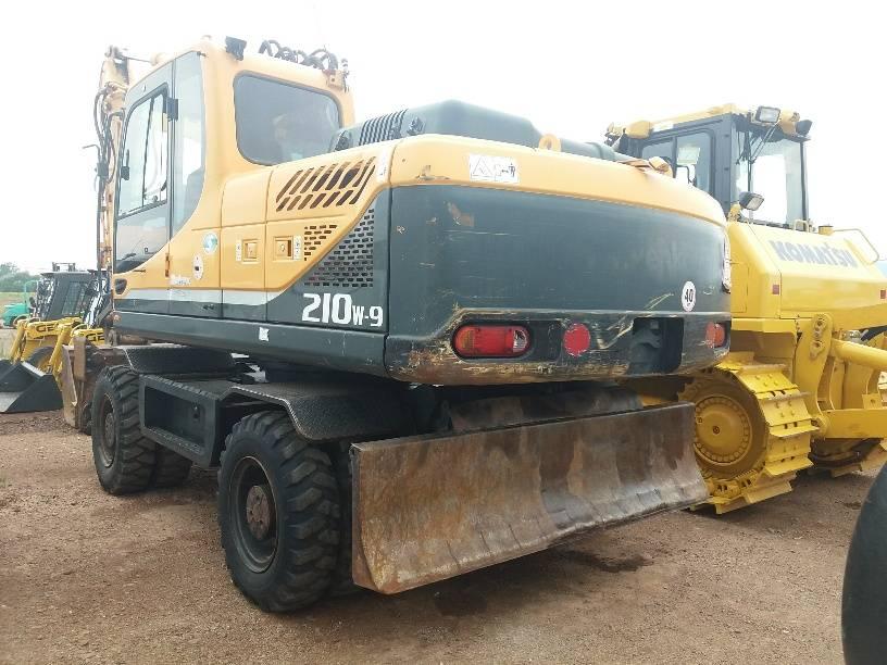 Hyundai Robex 210, Wheeled Excavators, Construction Equipment
