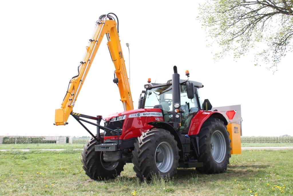 Massey Ferguson 7719S Dyna-VT met Herder Grenadier MBK 513 LSH, Tractoren, Landbouw