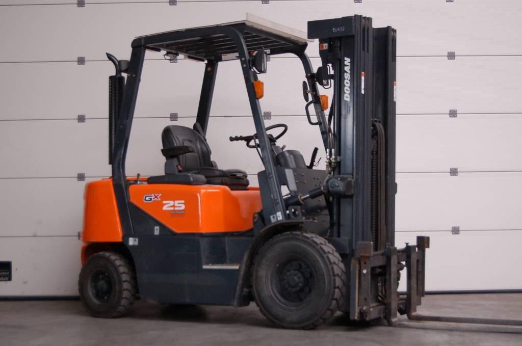 Doosan D25G, Diesel heftrucks, Laden en lossen