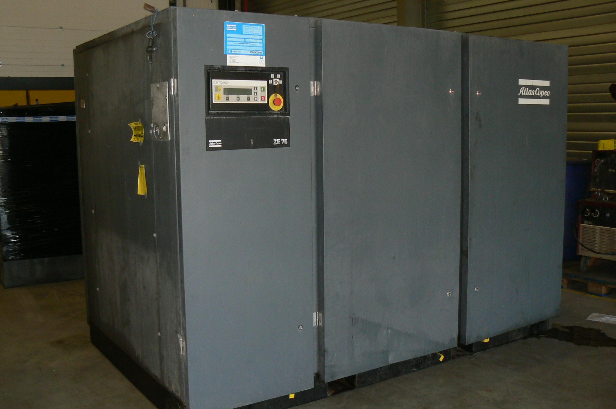 Atlas Copco ZE75, Compressors, Industrial
