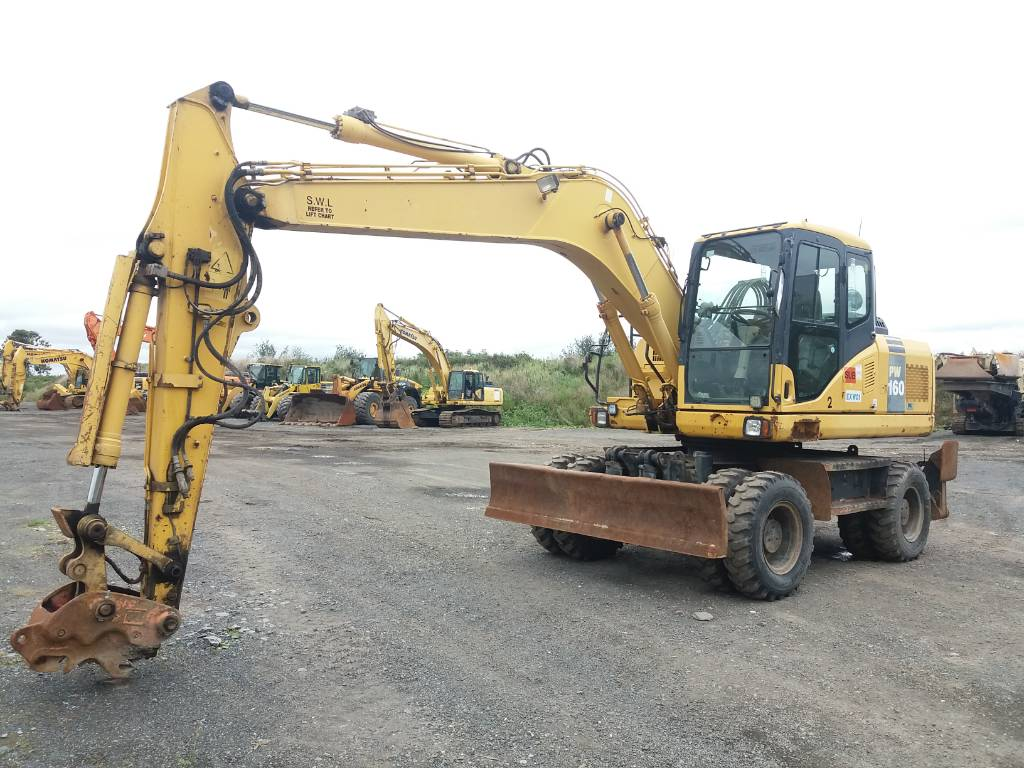 Komatsu PW160-7, Wheeled Excavators, Construction Equipment