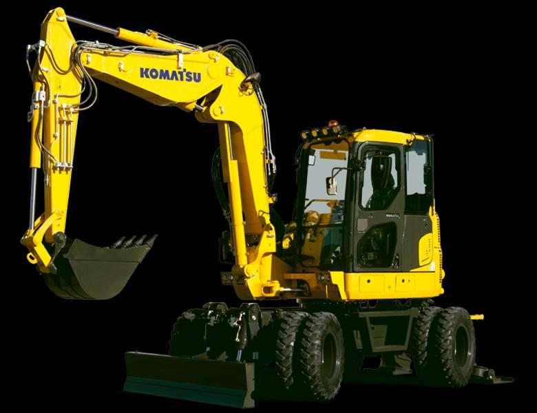 Komatsu PW 98 MR-10, Hjulgrävare, Entreprenad