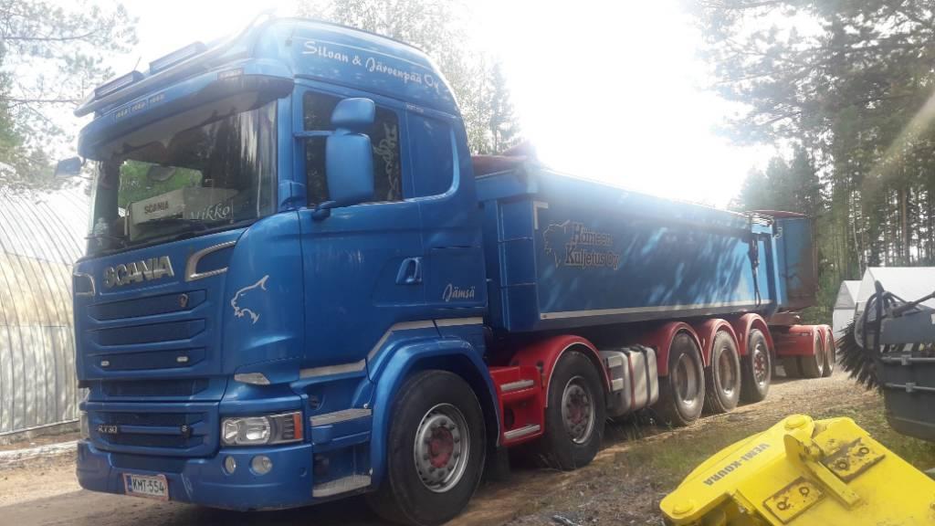Scania R730 10x4*6 + Jyki PV ASIAKKAAN LUKUUN, Sora- ja kippiautot, Kuljetuskalusto