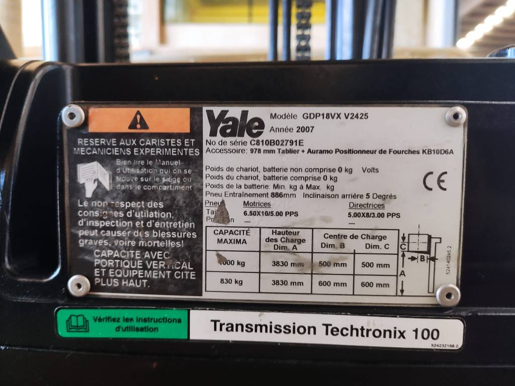 Yale GDP16VX, Diesel counterbalance Forklifts, Material Handling