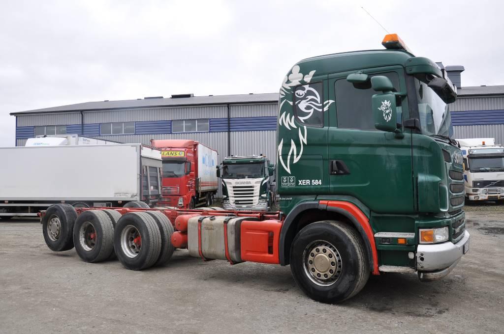 Scania G480 LB8X4*4HSA, Chassier, Transportfordon