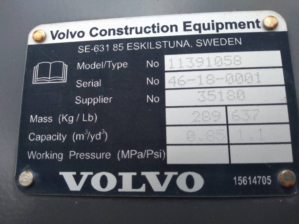 Volvo GP bucket 0,85m3, Buckets, Construction Equipment