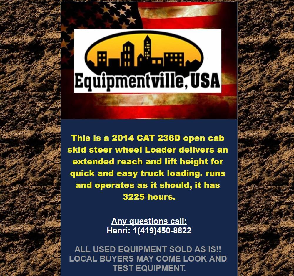 Caterpillar 236 D, Skid Steer Loaders, Construction Equipment