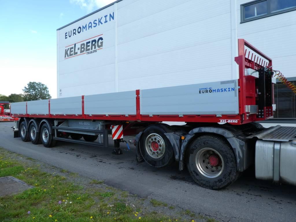 Kel-Berg D105V  Åpen semi m alusider - godt utstyrt, Planhengere, Transport