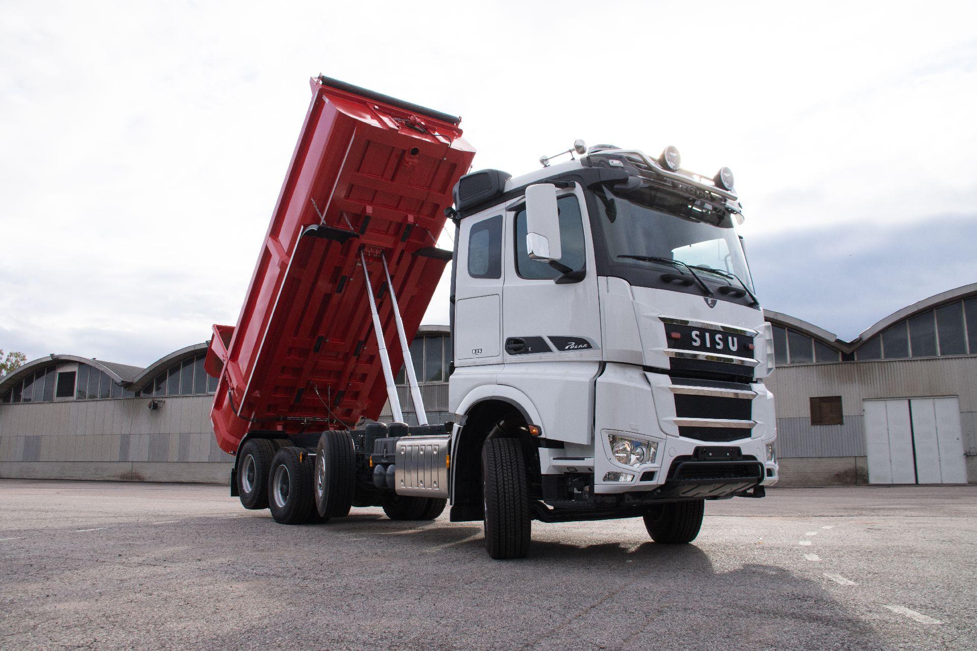 Sisu Polar CK16M 8x4, Tipper trucks, Transportation