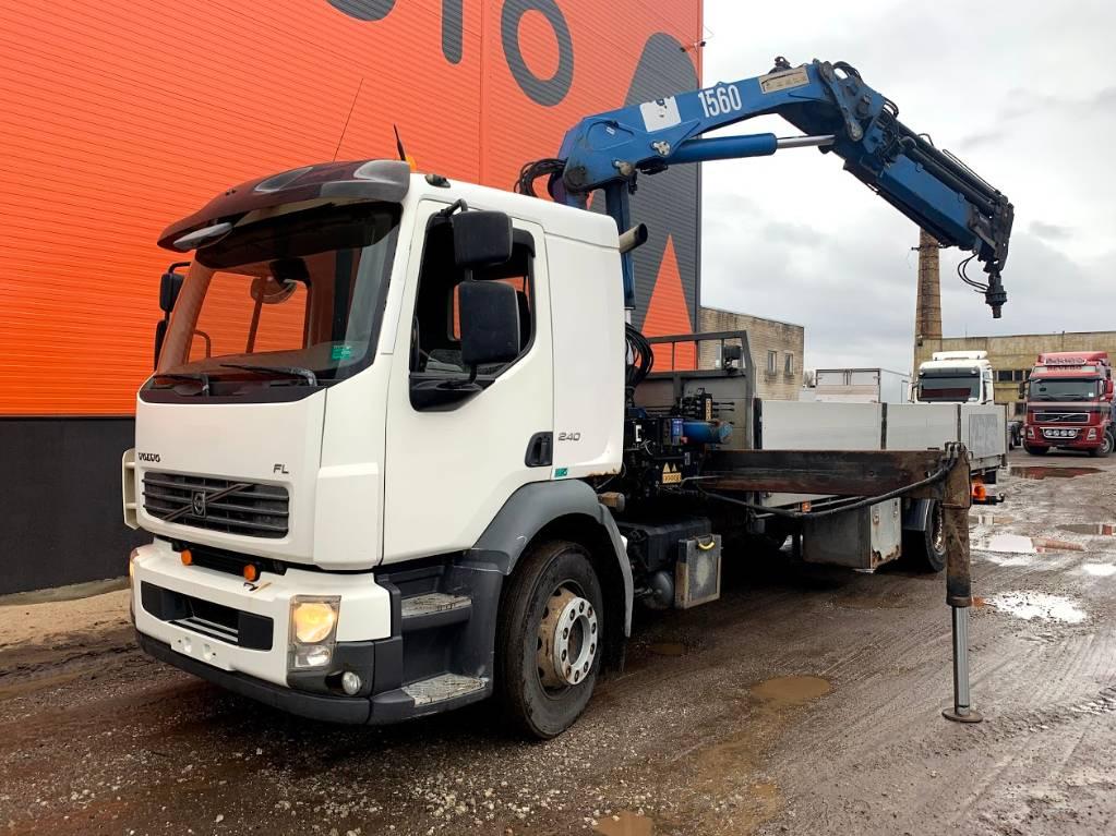 Volvo FL240 HMF 1560, Boom / Crane / Bucket Trucks, Trucks and Trailers