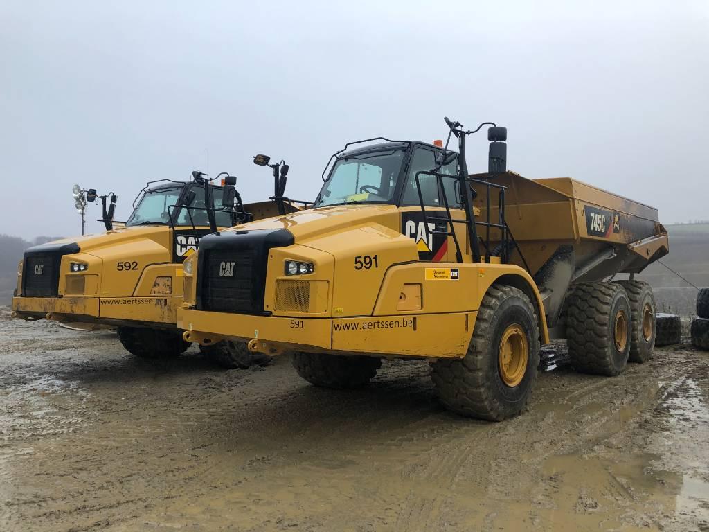 Caterpillar 745 C (2pieces), Articulated Dump Trucks (ADTs), Construction