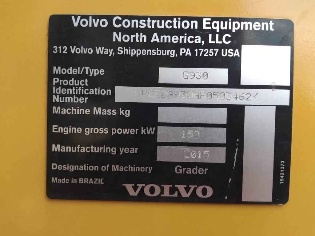 Volvo G 930, Motor Graders, Construction Equipment