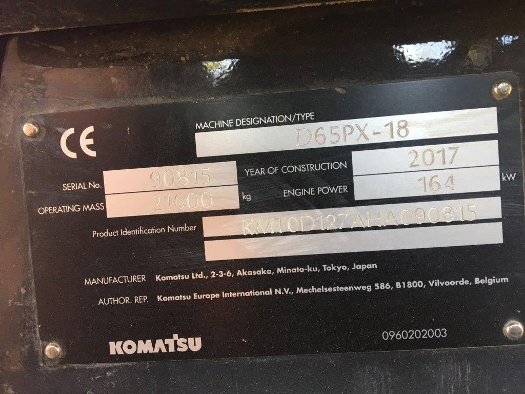 Komatsu D 65 PX -18, Spycharki, Maszyny budowlane