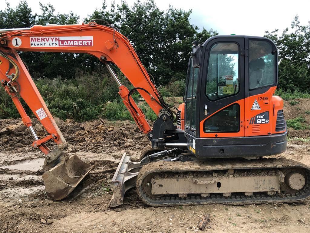 Doosan DX85R, Mini excavators  7t - 12t, Construction Equipment
