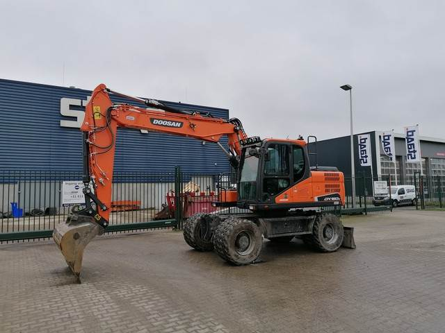 Doosan DX160W-5 Mobiele graafmachine, Wheeled Excavators, Construction Equipment