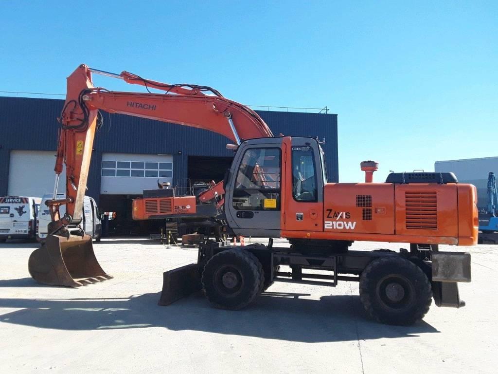 Hitachi ZX 210 W, Wheeled Excavators, Construction Equipment