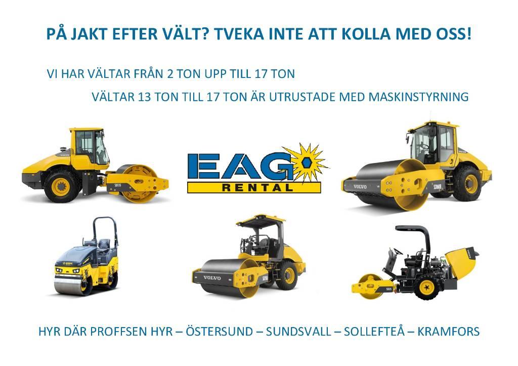 Volvo SD 135 (UTHYRES), Envalsvältar, Entreprenad