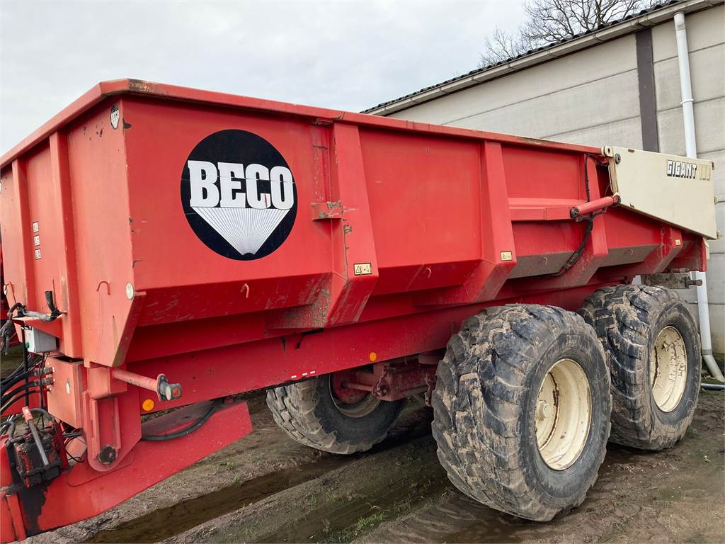 Beco Super 1200S, Tip Trailers, Agriculture