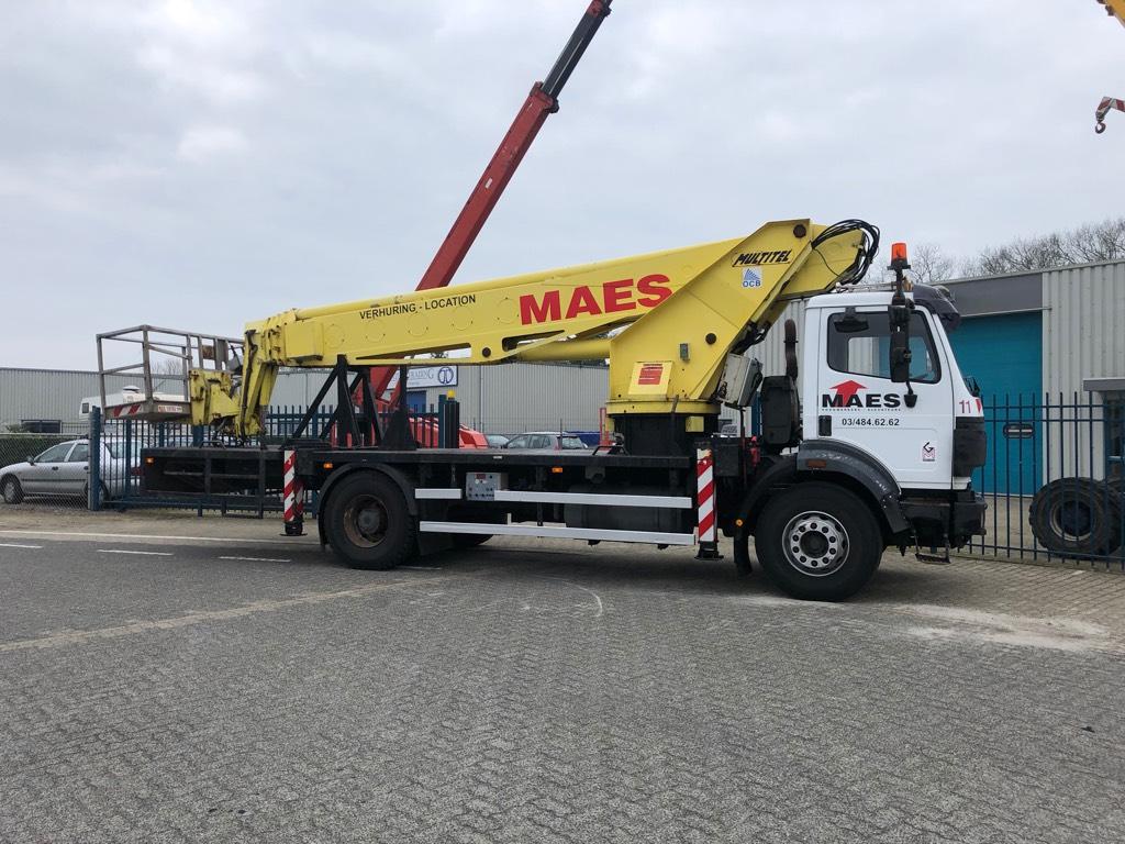 Multitel 30T Vrachtwagen Hoogwerker, 30 meter, Auto hoogwerkers, Bouw