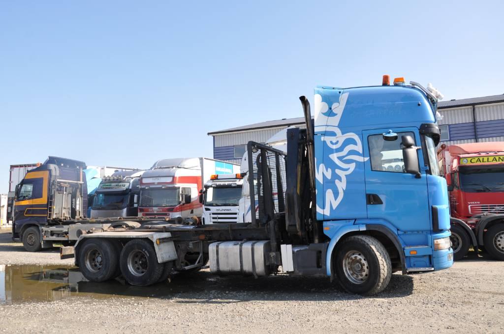 Scania 144 6X2 Kran / Växlare, Lastväxlare/Krokbilar, Transportfordon
