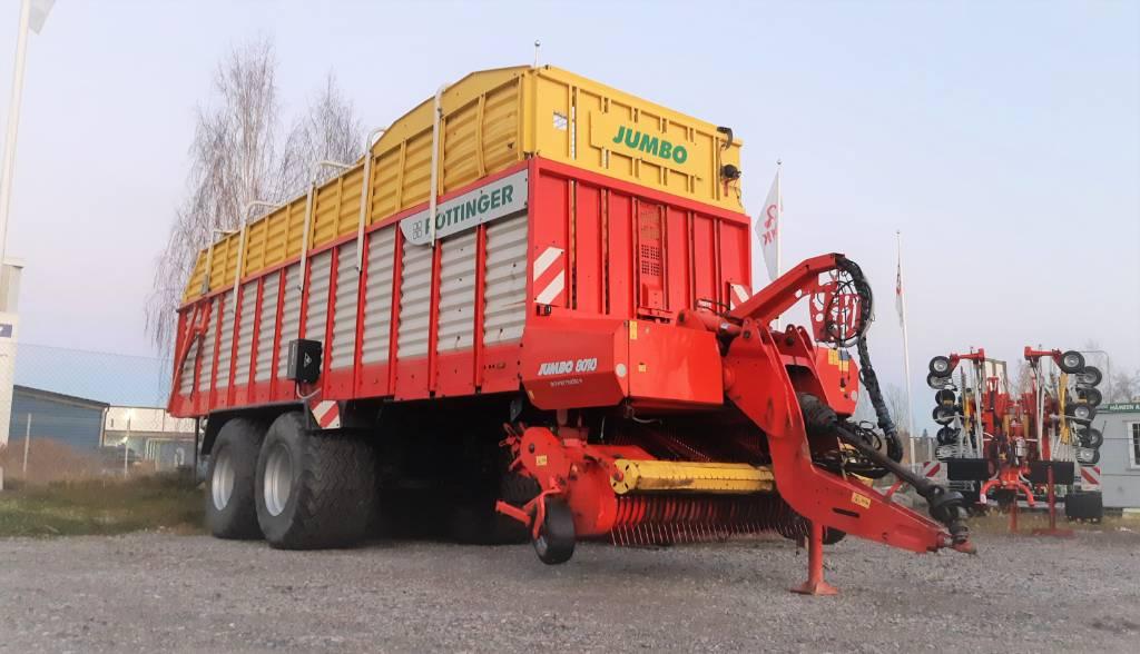 Pöttinger Jumbo 8010 L (Vuokrataan), Keräävät noukinvaunut ja silppurivaunut, Maatalous