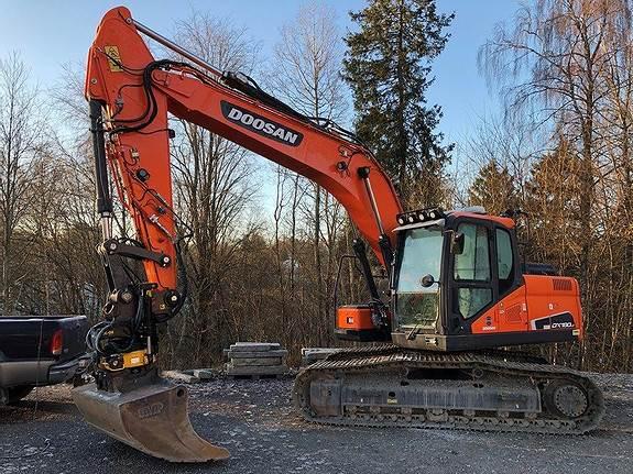 Doosan DX 180LC-5, Crawler Excavators, Construction Equipment