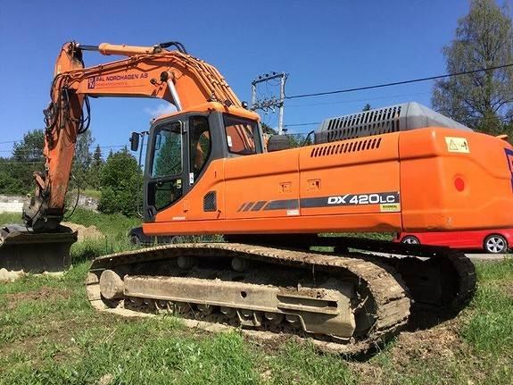 Doosan DX 420LC, Crawler Excavators, Construction Equipment