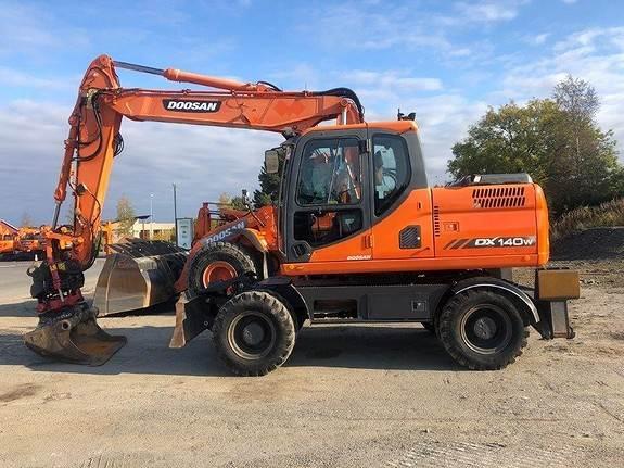 Doosan DX140W, Wheeled Excavators, Construction Equipment