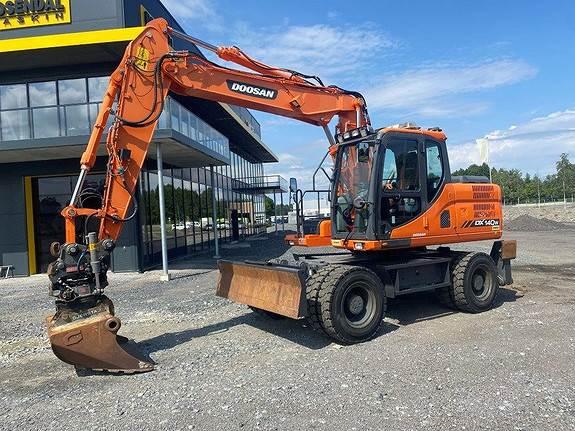 Doosan DX140W-3 med OilQuick, Crawler Excavators, Construction Equipment