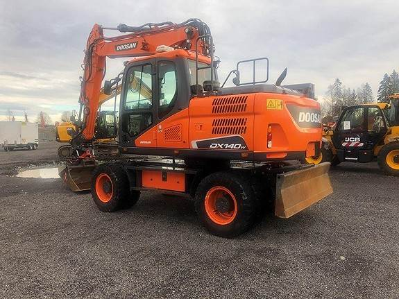Doosan DX140W-5, Wheeled Excavators, Construction Equipment