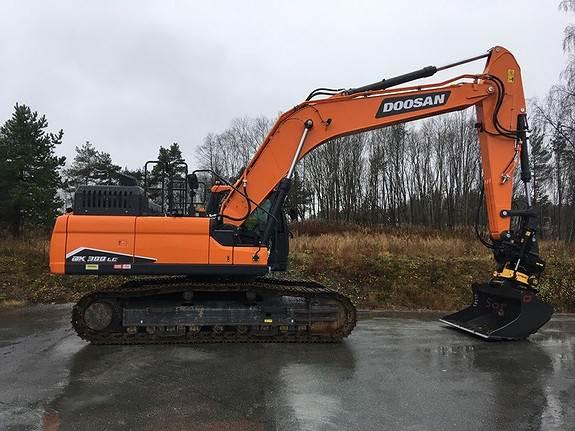 Doosan DX300LC-7, Crawler Excavators, Construction Equipment