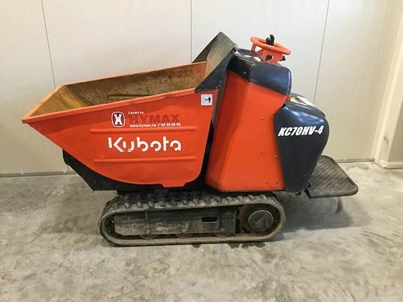 Kubota KC70HV-4, Mini dumpere, Anlegg