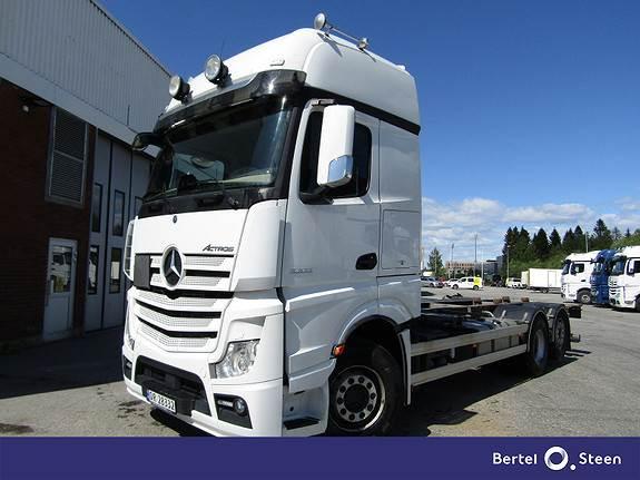 Mercedes-Benz ACTROS 2553L/49 Euro 6, dobble låser, Containerbil, Transport