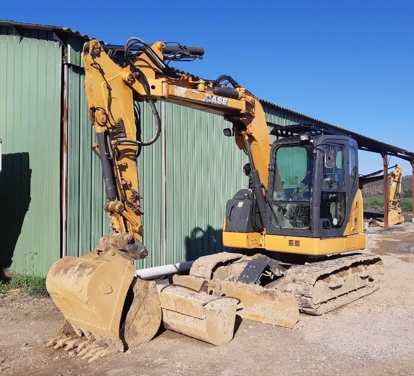 CASE CX75SR, Mini excavators  7t - 12t, Construction Equipment