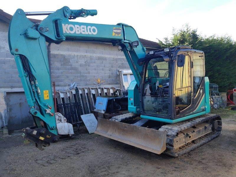 Kobelco SK75SR-3(SD), Mini excavators  7t - 12t, Construction Equipment
