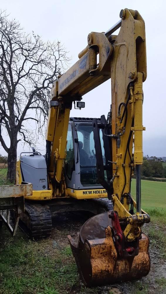 New Holland E70BSR-2, Mini excavators  7t - 12t, Construction Equipment