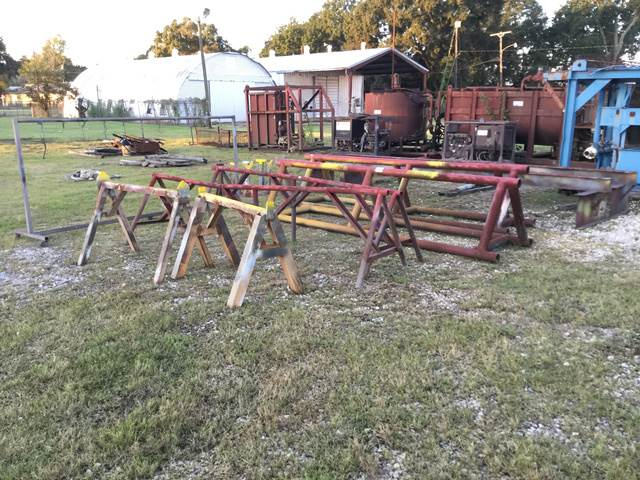 [Other] Lot of Pipe Stands & Steel Racks
