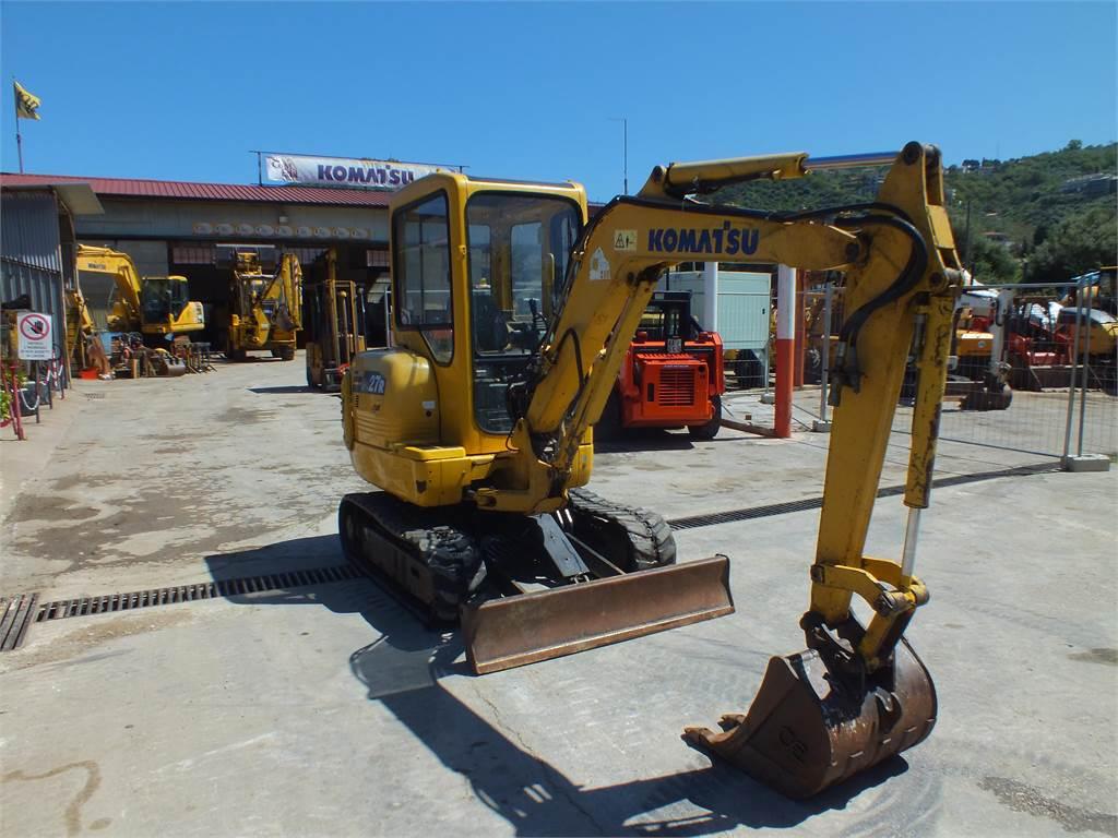 Komatsu PC27R-8, Mini excavators, Construction Equipment