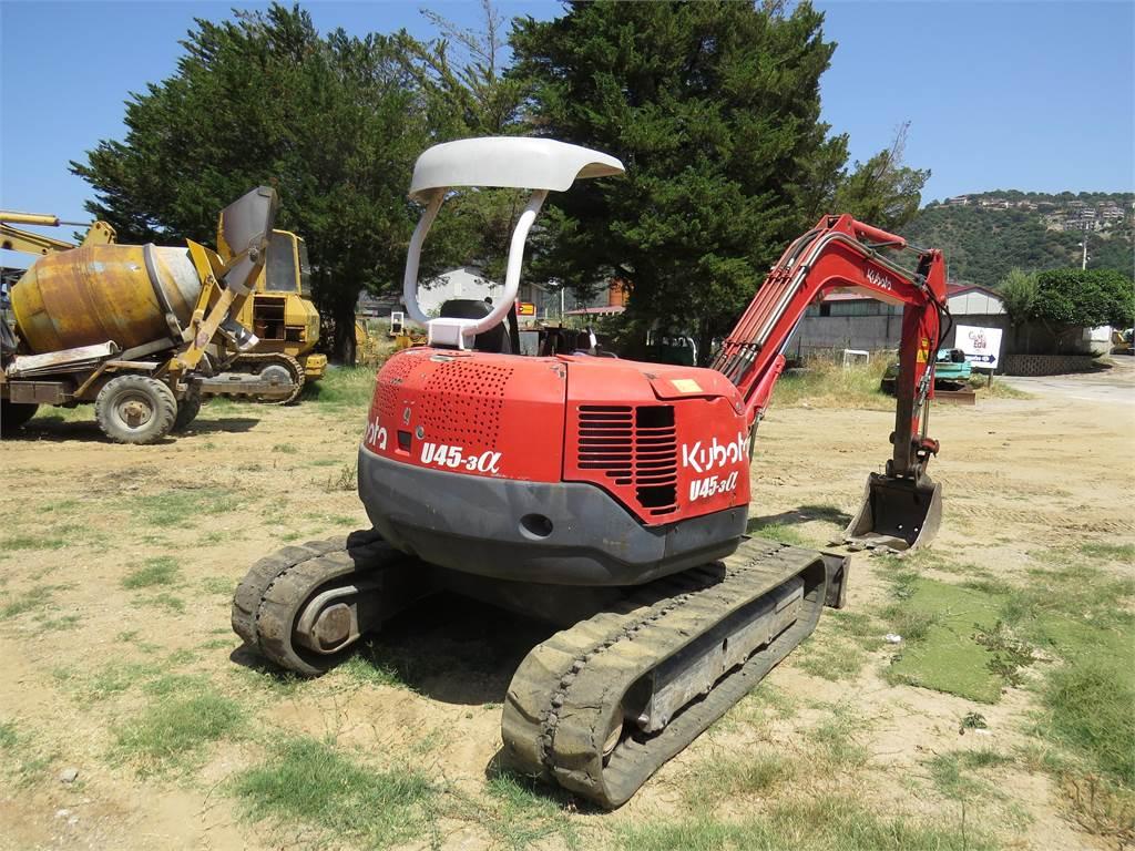 Kubota U-45, Mini excavators, Construction Equipment