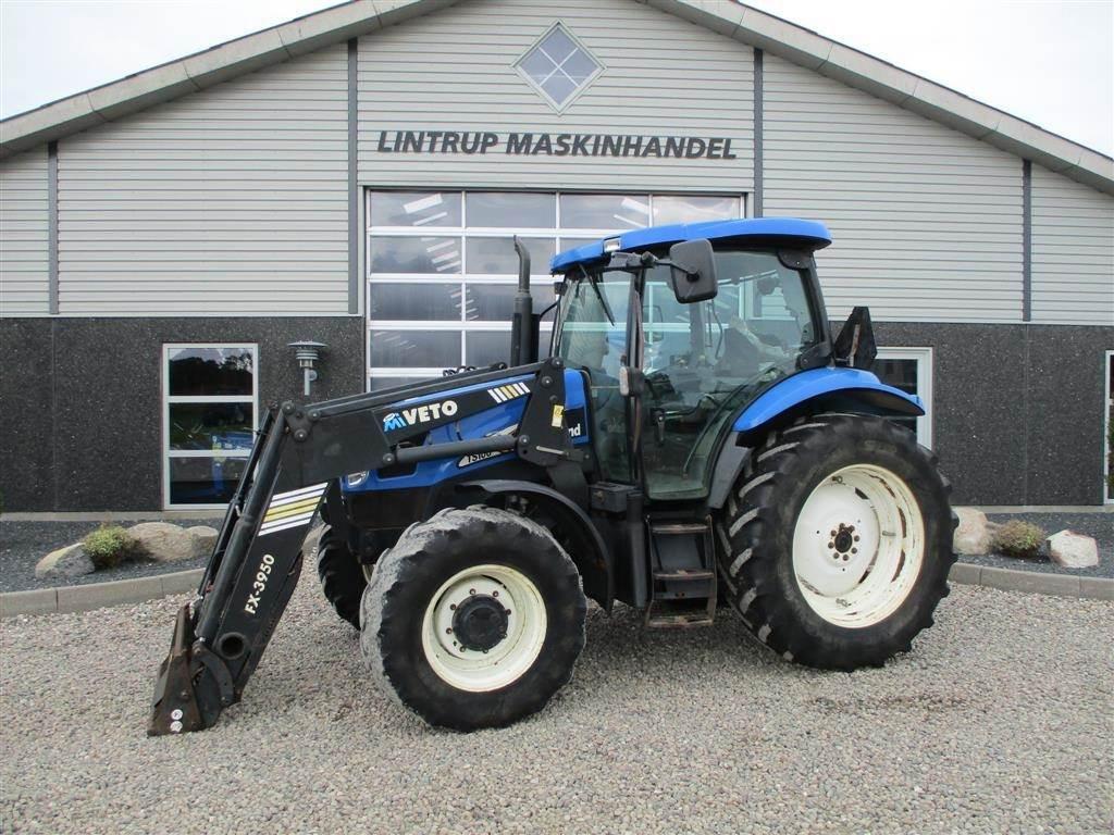 New Holland TS 100A Med frontlæsser, Traktorer, Landbrug