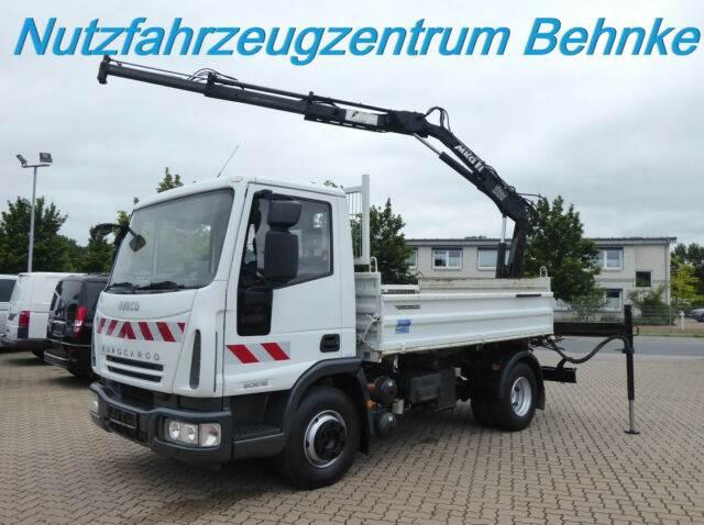 Iveco ML 80E18 K EuroCargo/ 2 Seitenkipp./Kran/AHK+Öl, Kipper, LKW/Transport