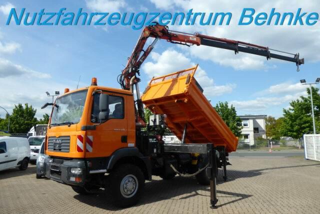 MAN TGM 13.240 BL 4x4 Kipper Kran TLC 125.2 + Korb, Kranfahrzeuge, LKW/Transport