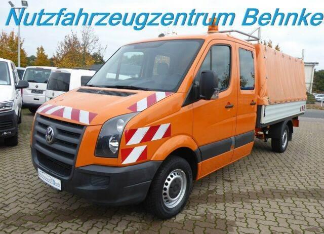 Volkswagen Crafter 35 Doka Pritsche L3/ 6 Sitze/ AHK 2,8to, Curtainsider trucks, Transportation