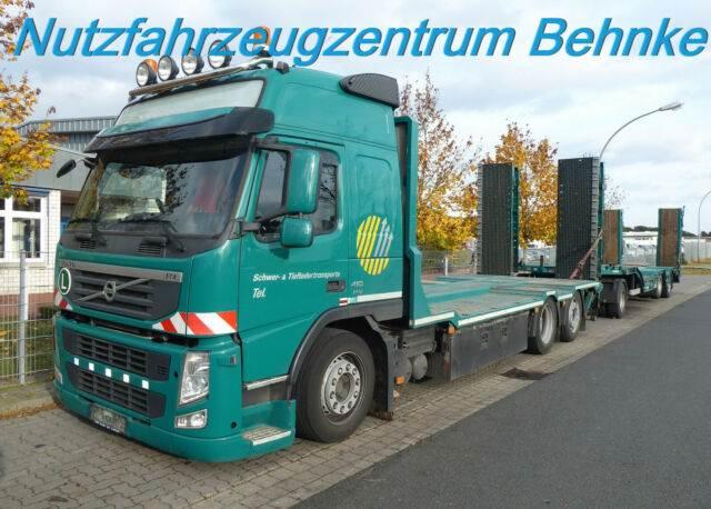Volvo FM 410 6x2/ Plattf. + Anhäng. m. hydrl. Rampen/, Autotransporter, LKW/Transport