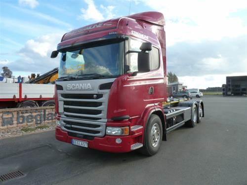 Scania G450, Lastväxlare med kabellift, Transportfordon