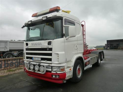Scania R124, Lastväxlare med kabellift, Transportfordon