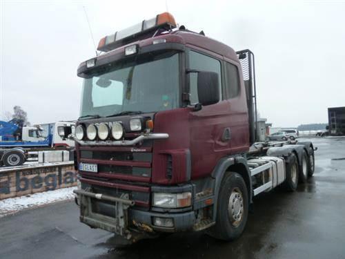 Scania R164, Lastväxlare med kabellift, Transportfordon